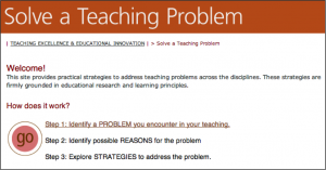 Solve a Teaching Problem site