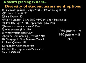 Slide of a Weird Grading System
