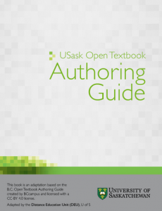 USask Open Textbook Authroing Guide
