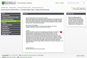 Canadian Open Government Data Lib Guide