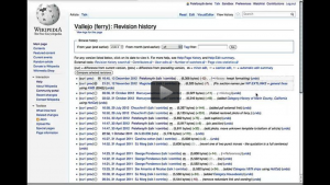 Using view history tab on Wikipedia