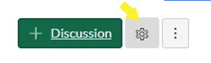 Discussions and Settings Gear Buttons