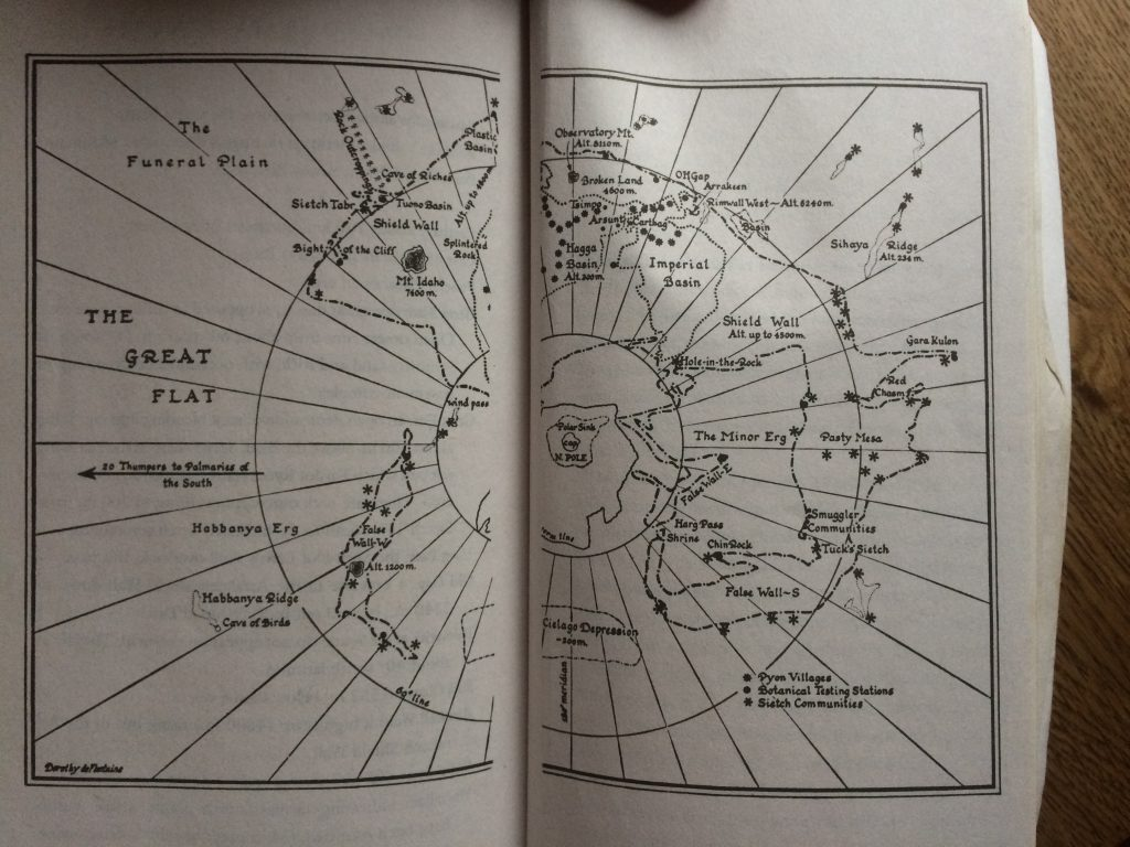 (Herbert, Dune. Print. Page 865) Pictured: a somewhat helpful map. Image: (c) Patrick Brannen.