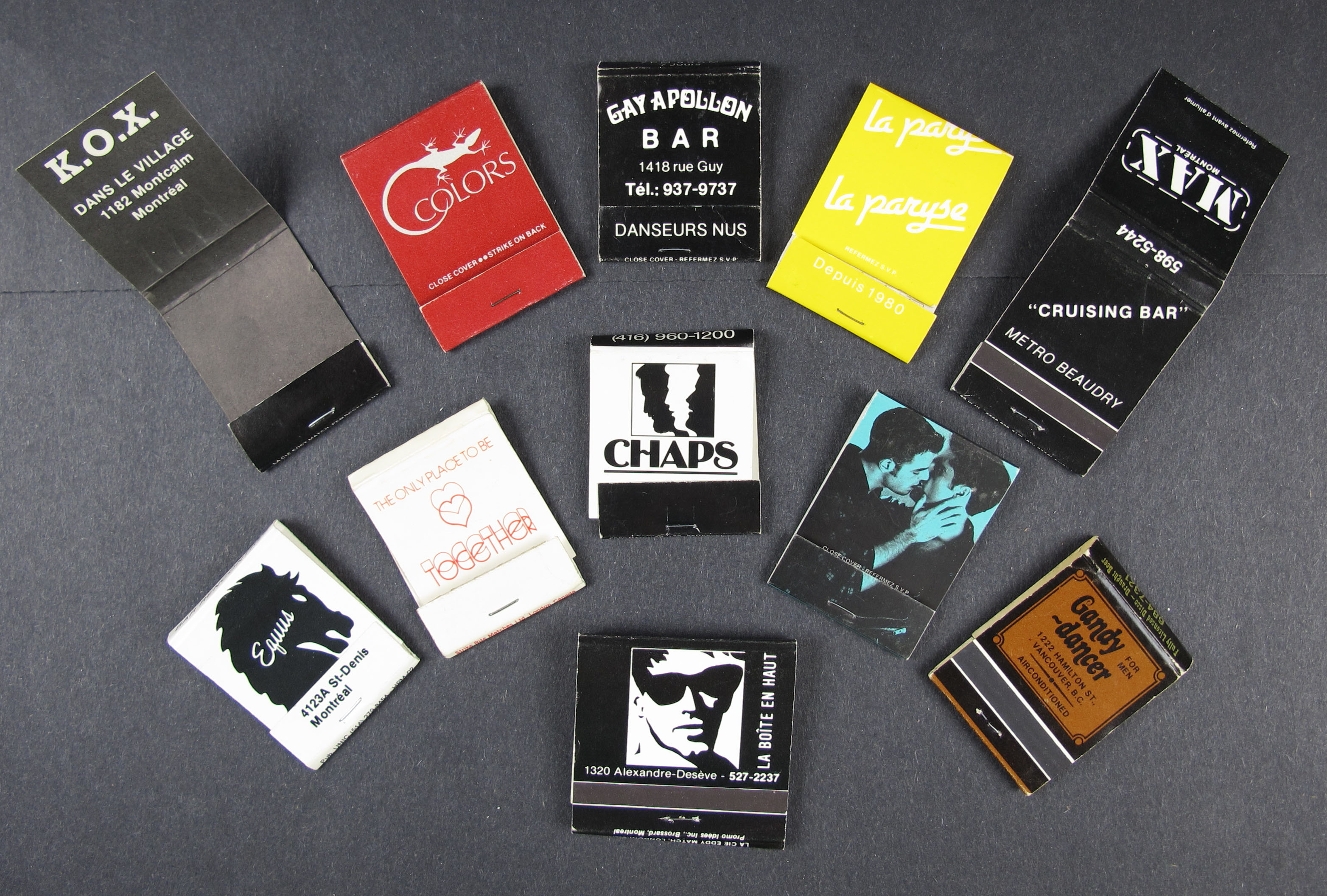 11nightclubmatchbooks
